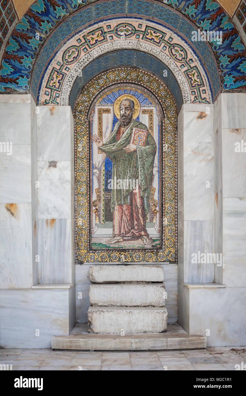 La Grecia e la Macedonia centrale regione, Veria, monumento a san Paolo che hanno predicato il cristianesimo in Veria 49-51 ANNUNCIO Immagini Stock