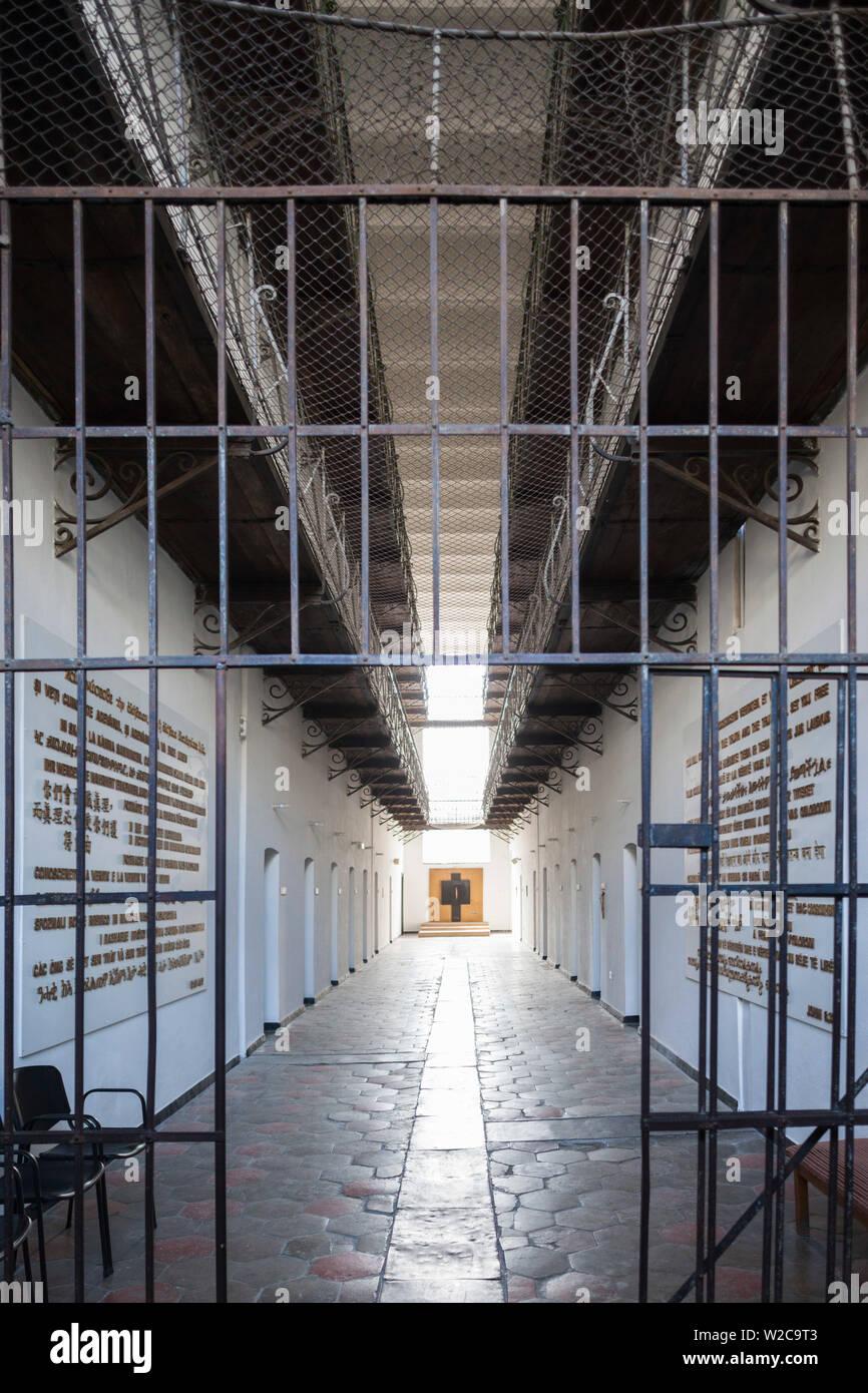 La Romania, regione Maramures, Sighetu Marmatei, Memoriale per le vittime del comunismo e alla resistenza alloggiata nella ex carcere politico Immagini Stock