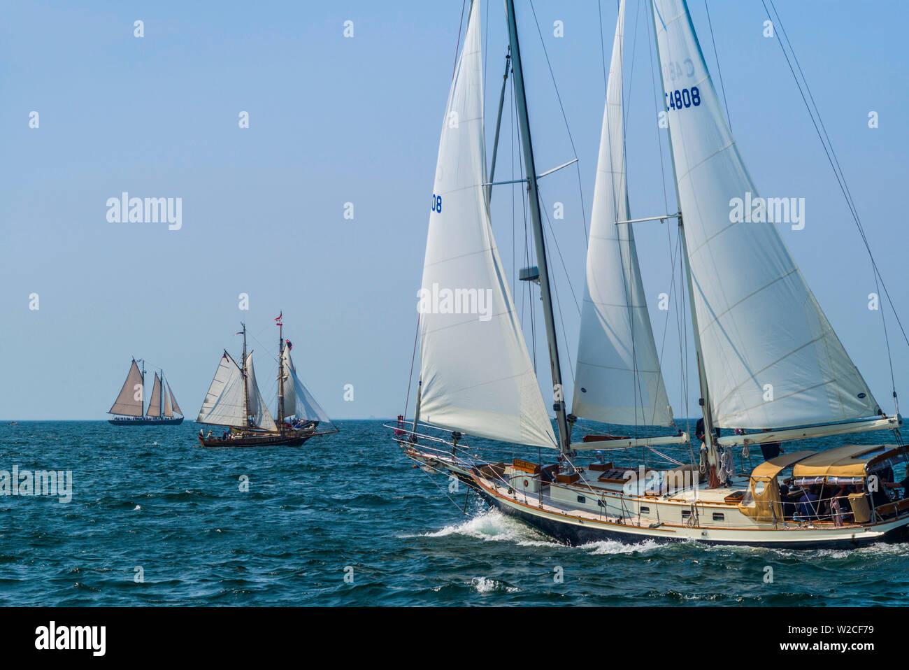 Stati Uniti d'America, Massachusetts, Cape Ann, Gloucester, America più antichi della Seaport, goletta annuale Festival Immagini Stock