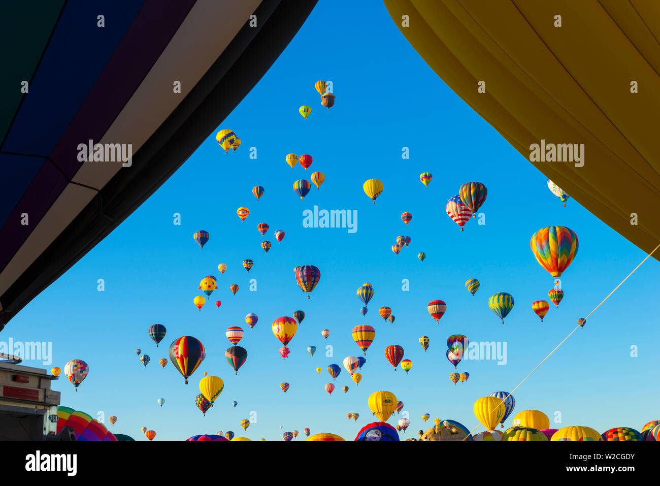 Stati Uniti d'America, New Mexico di Albuquerque, Albuquerque International Balloon Fiesta Immagini Stock
