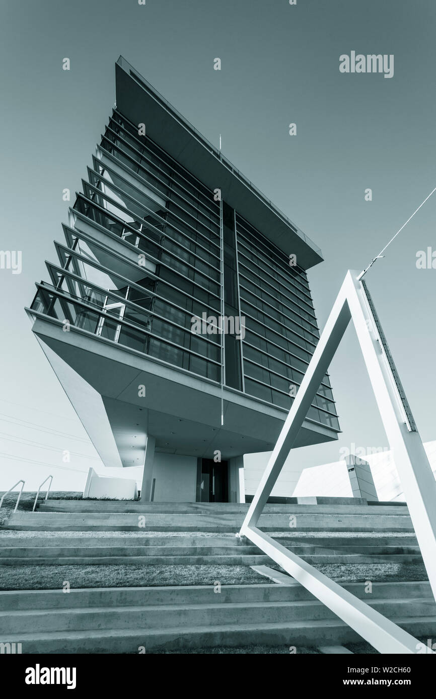 Stati Uniti d'America, Oklahoma, Oklahoma City, il Boathouse distretto, Cheasapeake Traguardo Tower Immagini Stock