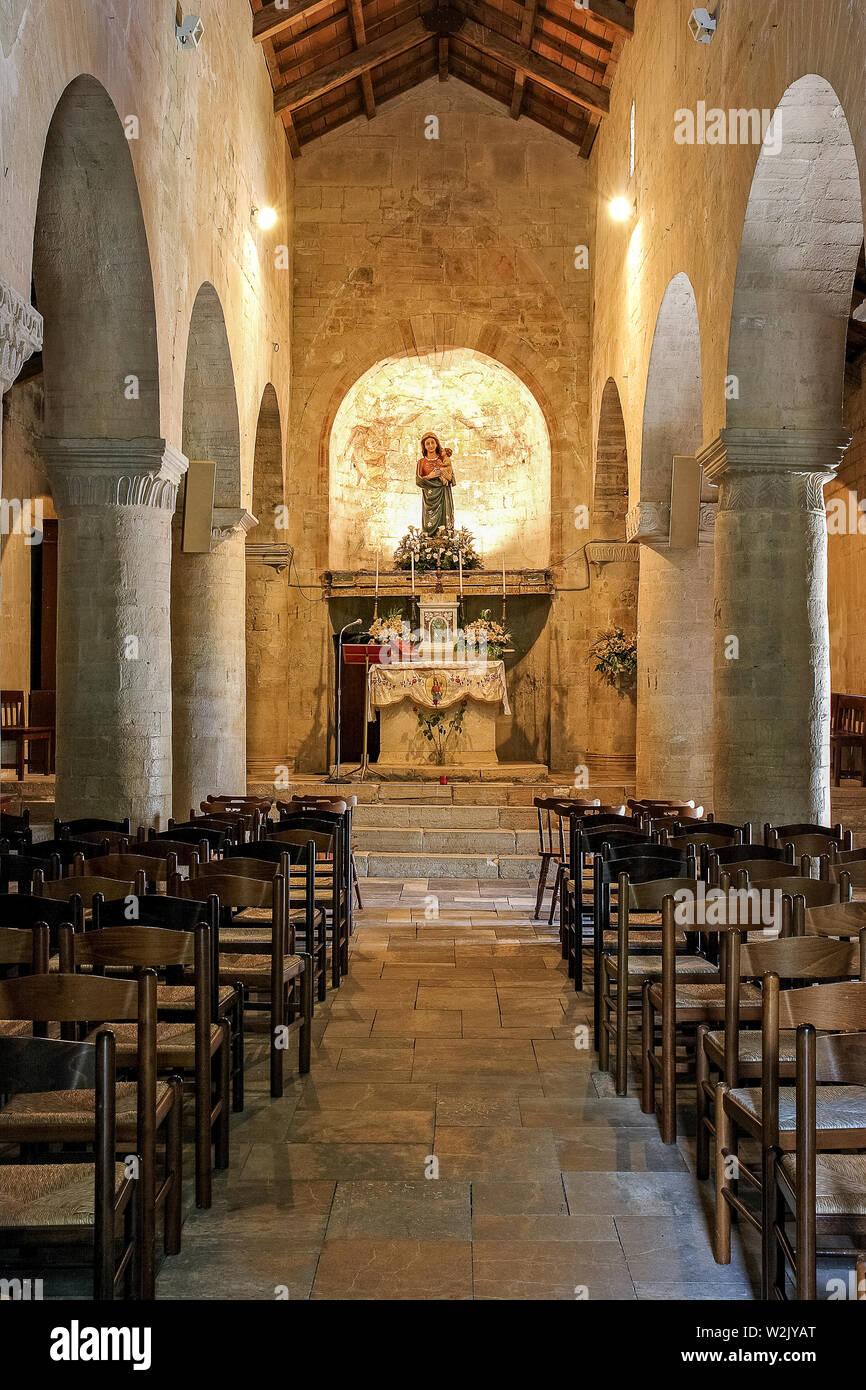Italia Molise Matrice (Cb) - Chiesa di Santa Maria della Strada XI - XII secolo Foto Stock