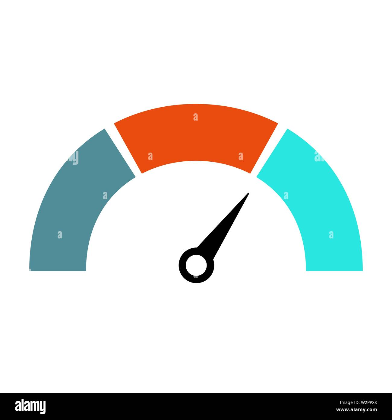 Indicatore livello gas icona isolato sul retro bianco Immagini Stock