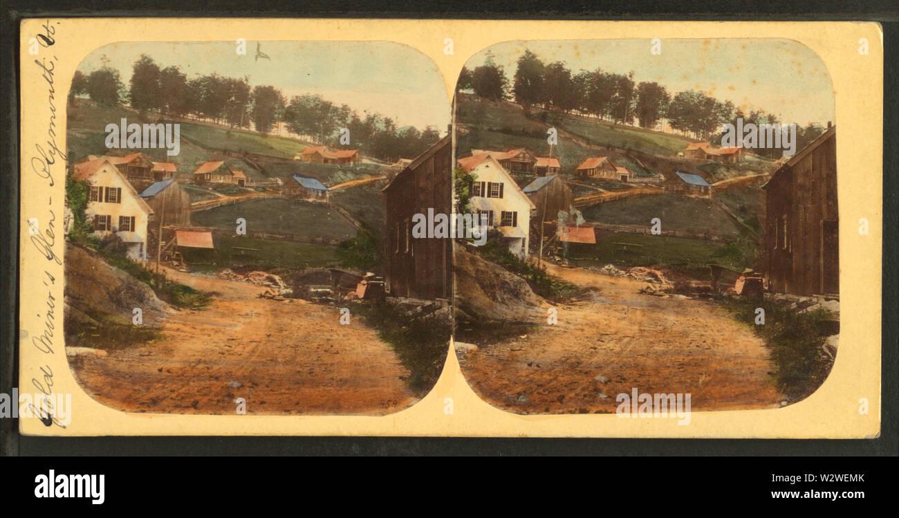 Nella Gold Miner's Glen, Plymouth, Vt, dal calibro, F B (Benjamin Franklin), 1824-1874 Immagini Stock