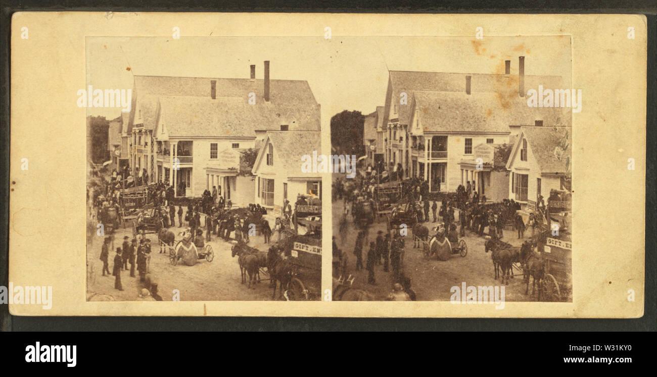 Celebrazione pubblica della Rag Rorums presso il St Johnsbury, Vt, 4 luglio 1859, dal calibro, F B (Benjamin Franklin), 1824-1874 Immagini Stock