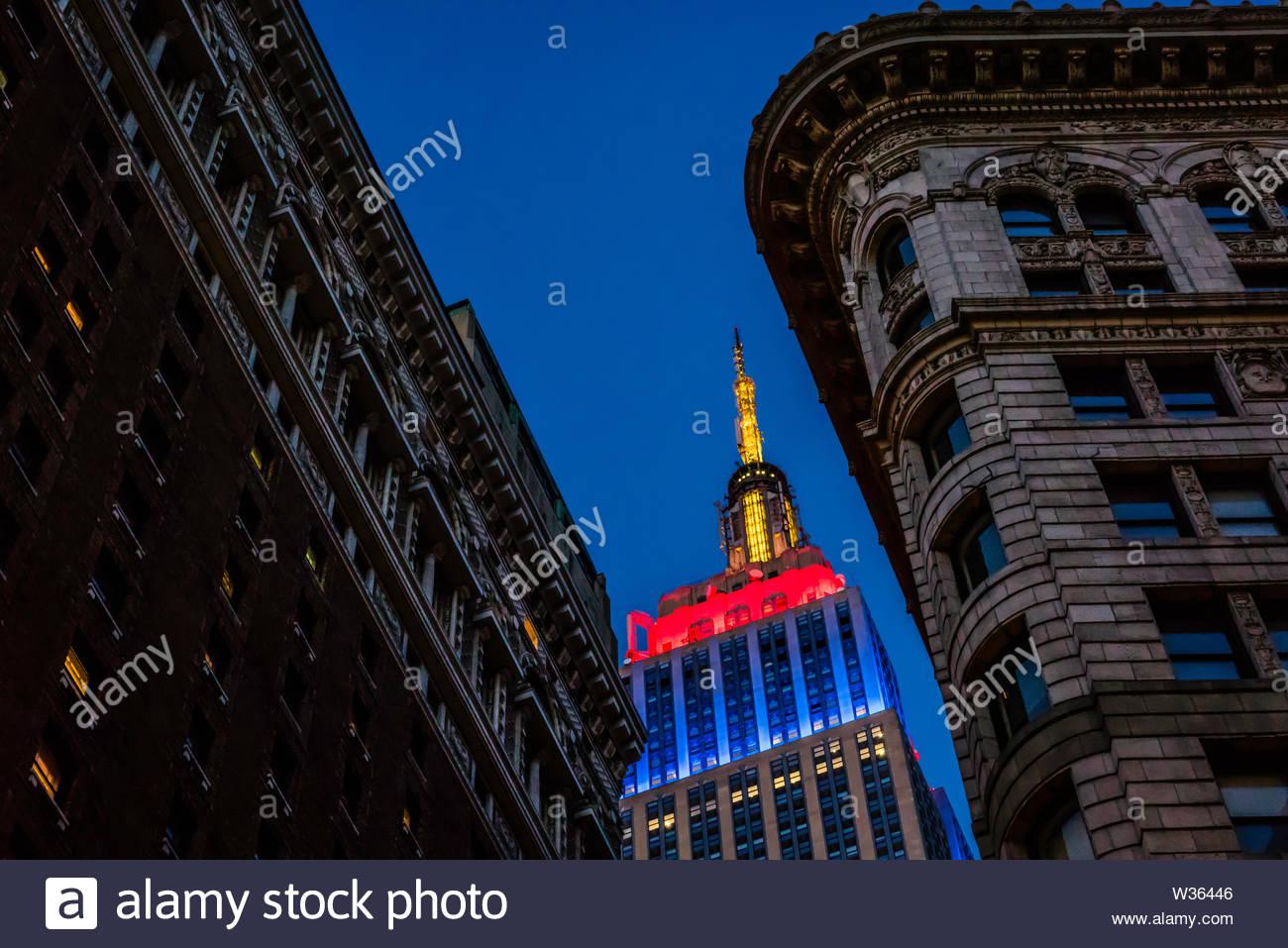 Empire State Building Manhattan _ New York New York, Stati Uniti d'America Immagini Stock