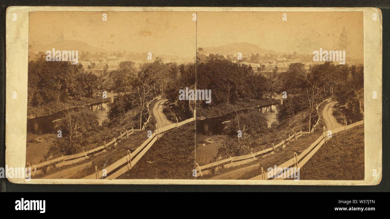 Il Passumpsic presso il St Johnsbury, Vt il villaggio di distanza, dal calibro, F B (Benjamin Franklin), 1824-1874 Immagini Stock