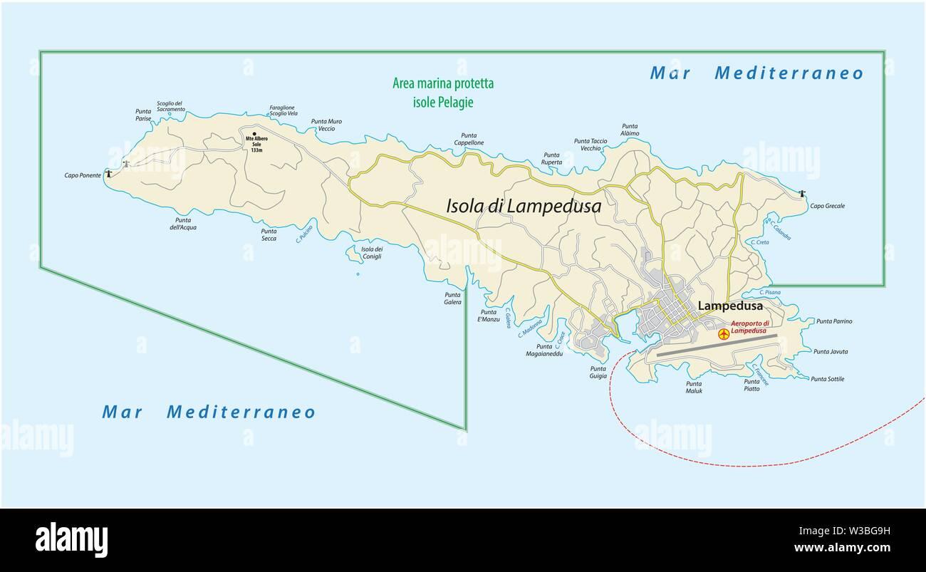 Lampedusa Cartina Dettagliata.Mappa Stradale Dell Islanda Sicilia Immagini E Fotos Stock Alamy