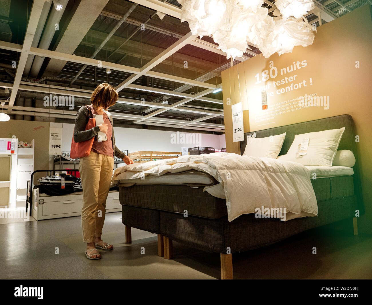 Biancheria Da Letto Ikea.Letto Ikea Immagini Letto Ikea Fotos Stock Alamy