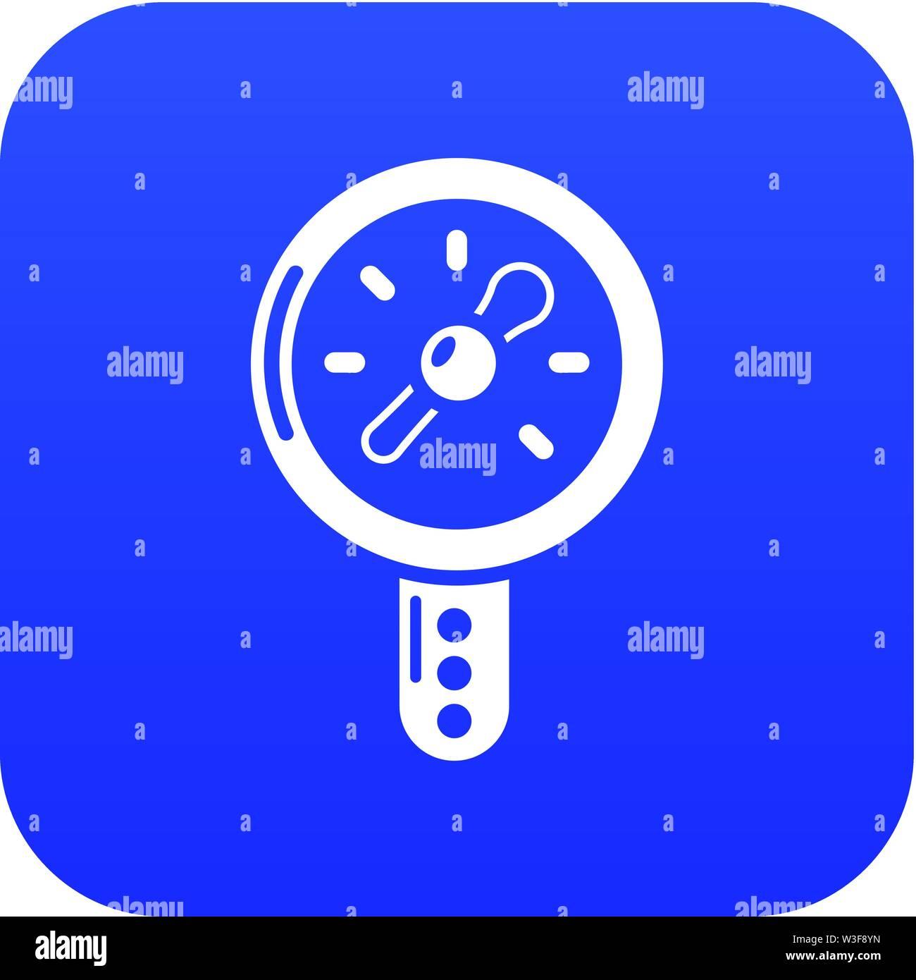 Icona di segnalazione pressione, semplice stile nero Immagini Stock