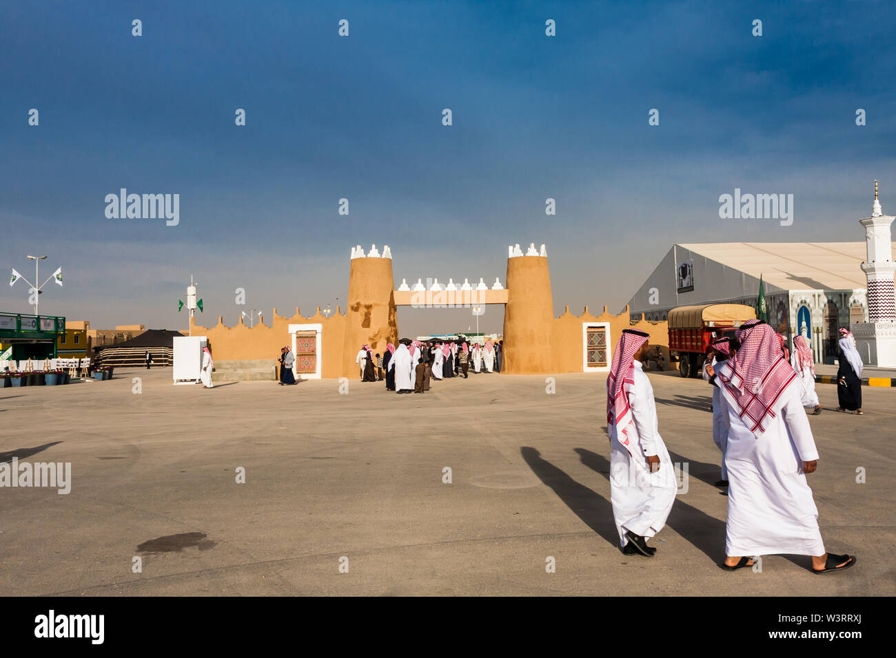 All'interno dell'Janadriyah Festival Village, Riyadh Immagini Stock
