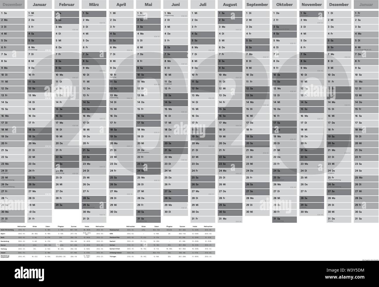 Calendario Festivita Germania 2020.Year Planner Immagini Year Planner Fotos Stock Alamy