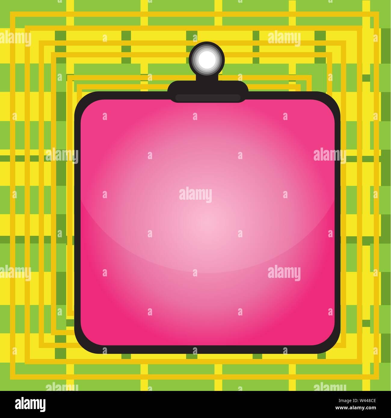 Appunti colorato il fermaglio a molla bloccata si legano vuoto telaio tavoloni concetto aziendale vuota copia modello spazio isolato poster promozionali coupon Immagini Stock