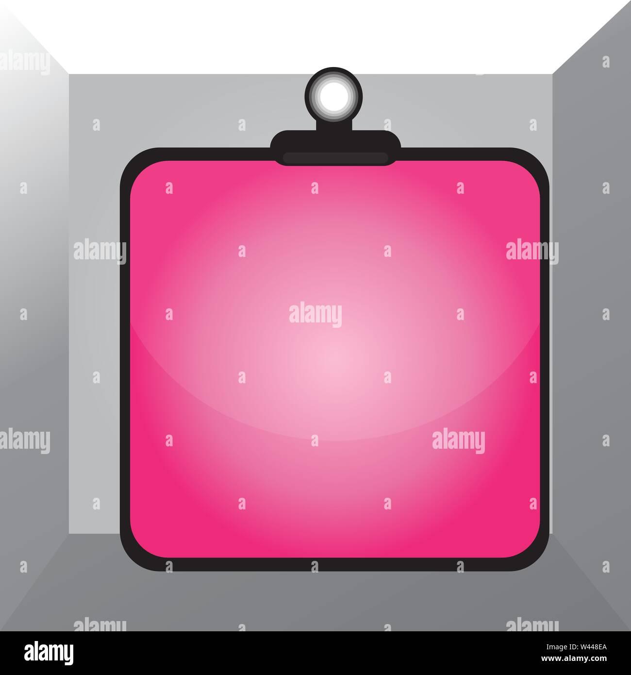Appunti colorato il fermaglio a molla bloccata si legano vuoto telaio tavoloni Business modello vuoto per la disposizione di invito biglietto di auguri promozione poste Immagini Stock