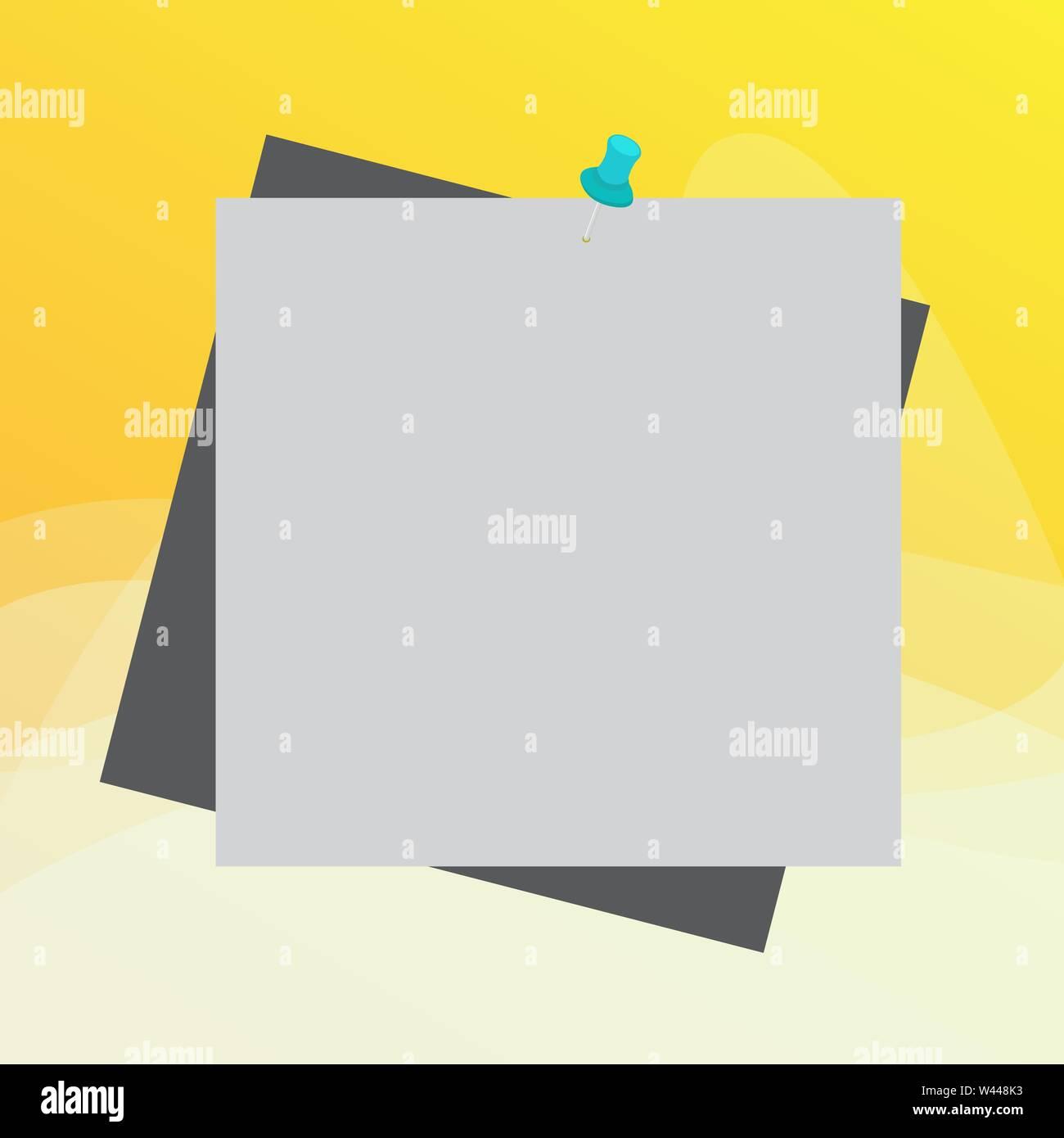 Promemoria colore di sfondo puntina tack promemoria allegato office pin quadrati business design concept vuoto consente di copiare il testo per il banner per il Web di materiale promozionale Immagini Stock