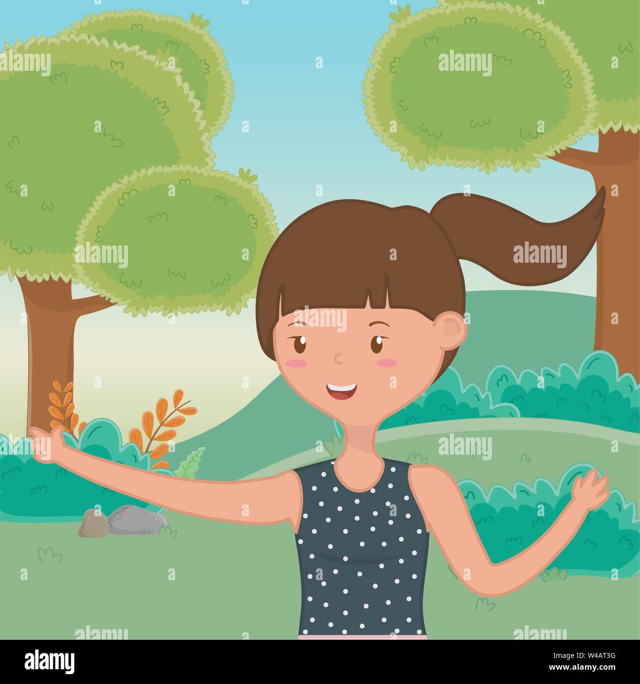 Ragazza adolescente design, femmina gente giovane adolescente bella e donna tema illustrazione vettoriale Immagini Stock