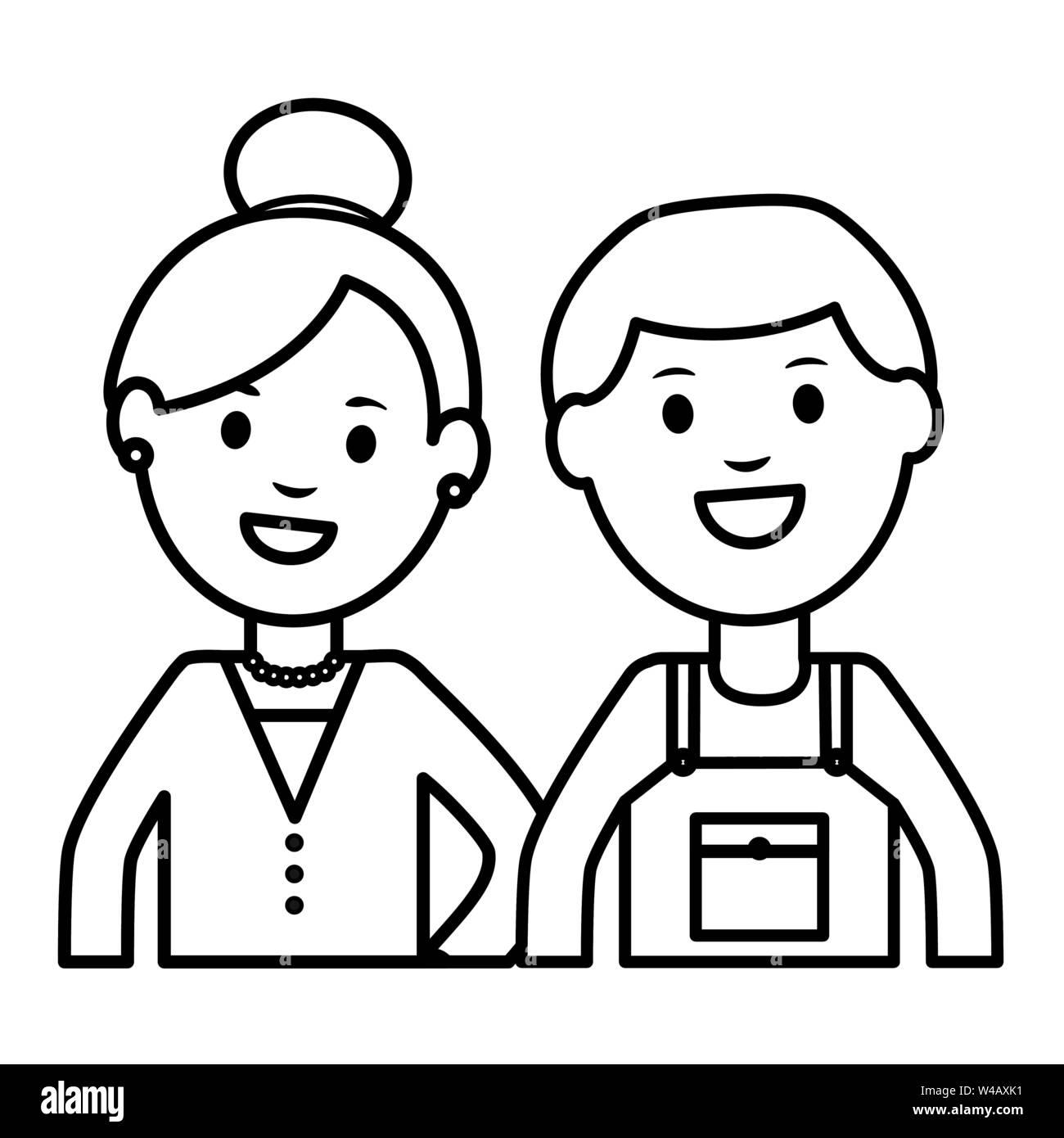 Giovane imprenditrice con il costruttore builder illustrazione vettoriale design Immagini Stock