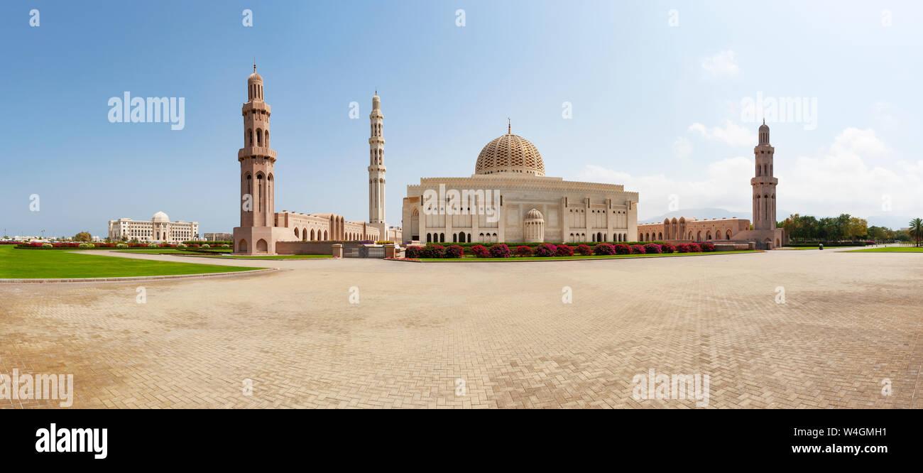 Sultan Qaboos Grande Moschea, Muscat Oman Foto Stock