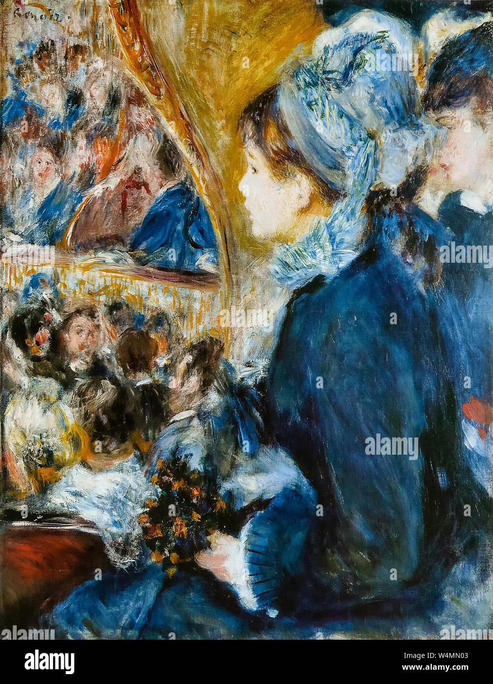 Pierre Auguste Renoir, pittura, presso il teatro, (La Première Sortie), 1876-1877 Foto Stock