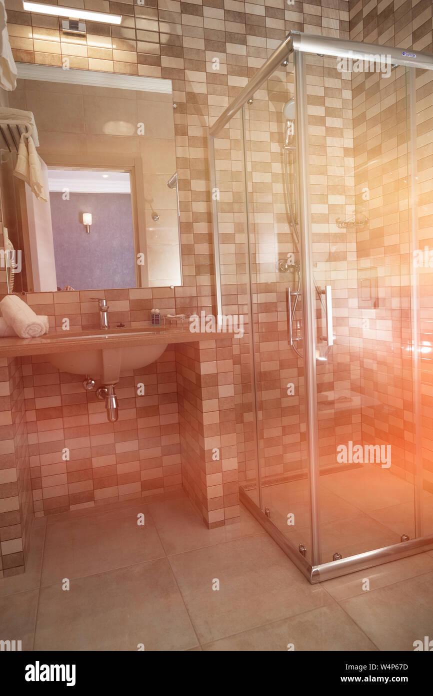 Piastrelle Bagno Mosaico Viola bagno camera confortevole, doccia, piastrelle a mosaico