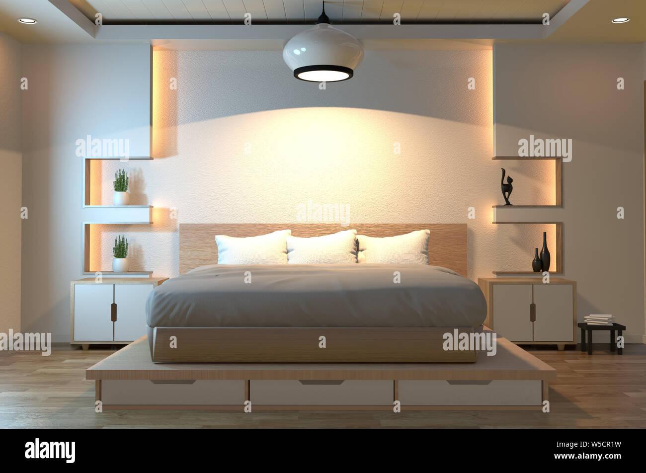 Camera Da Letto Giapponese zen moderno camera tranquilla. giappone camera da letto in