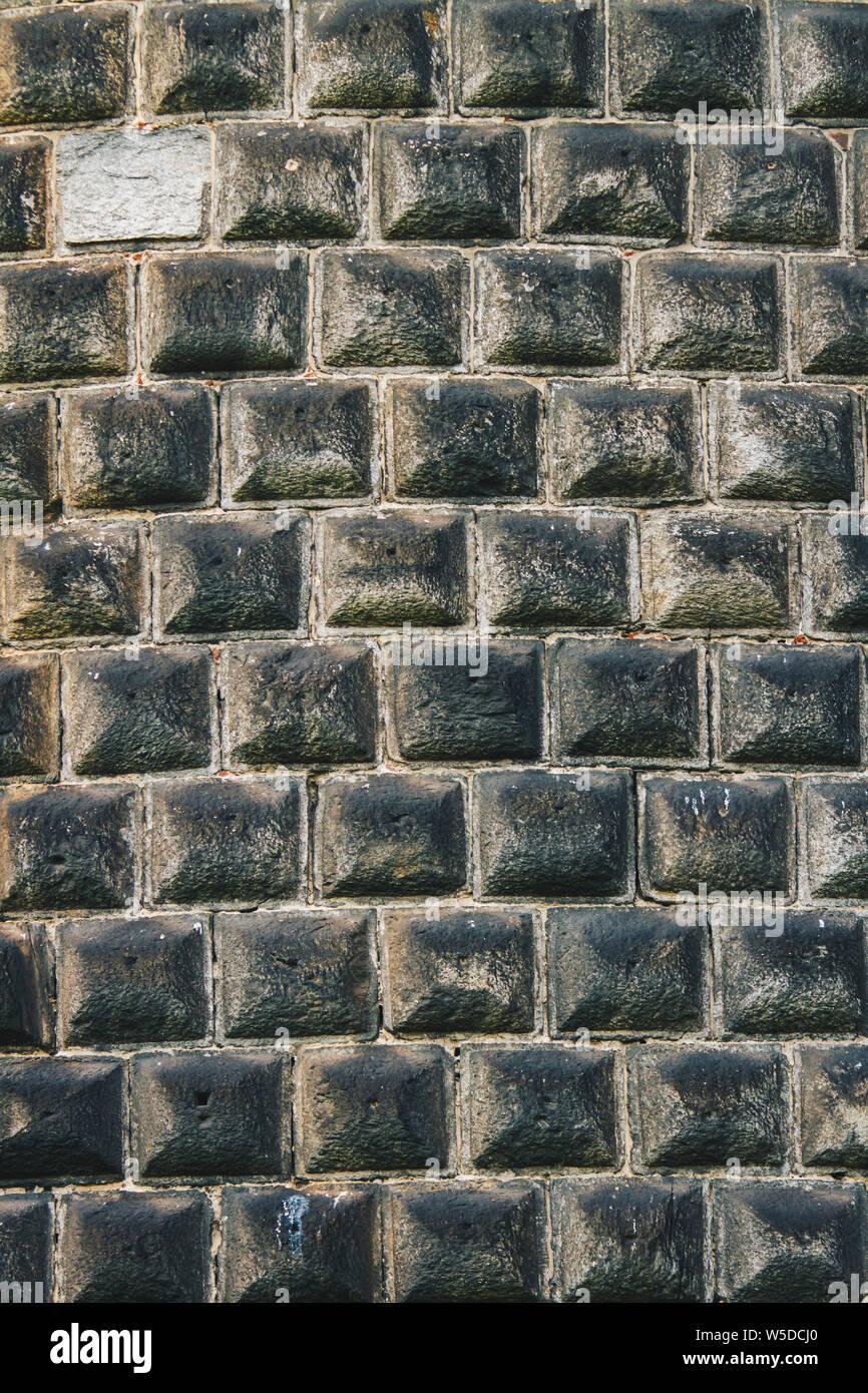 Muro Fatto In Pietra primo piano particolare del concio muro fatto di pietra