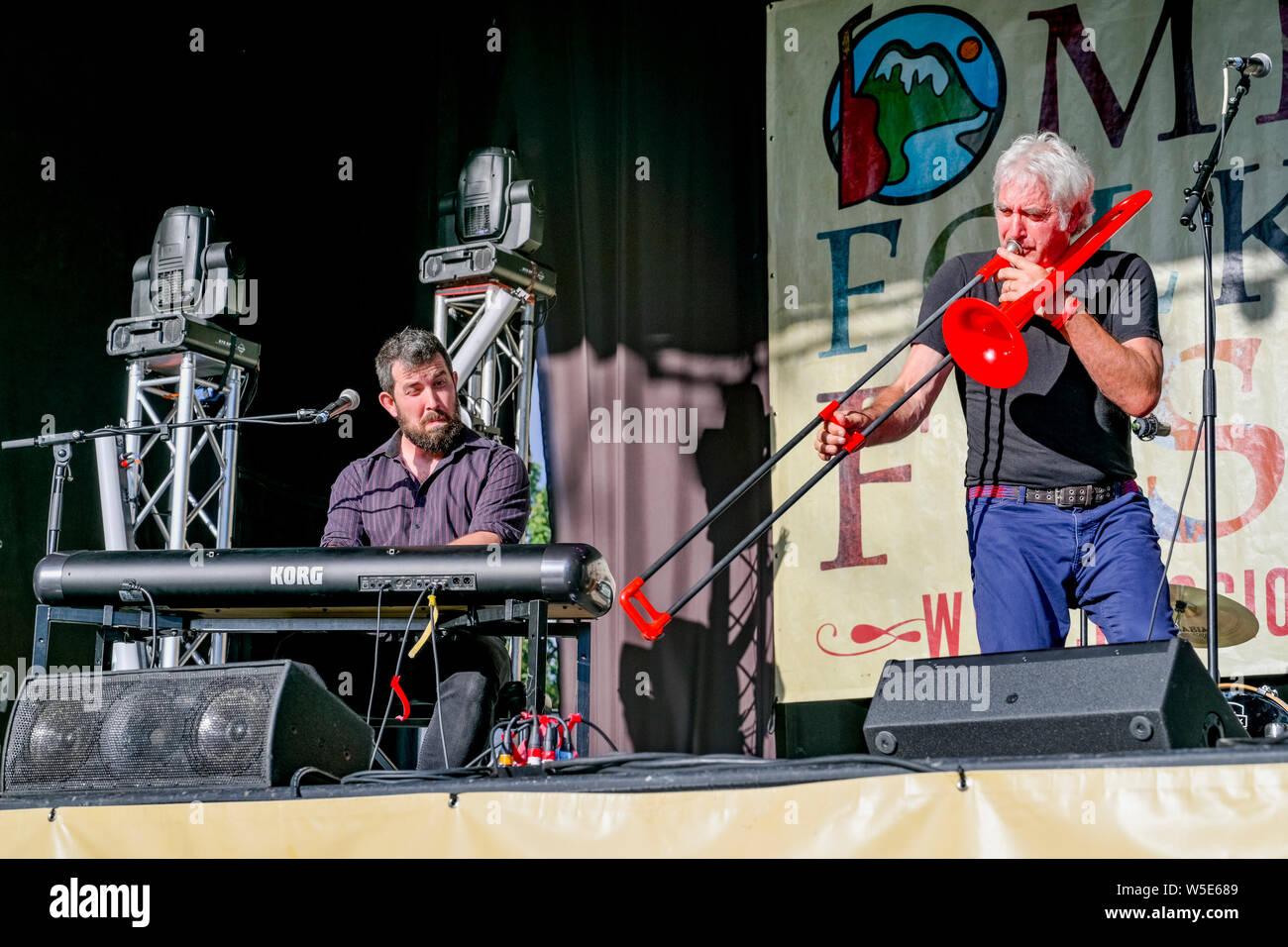 Radici e scanalature, la missione di Musica Folk Festival. Missione, British Columbia, Canada Foto Stock