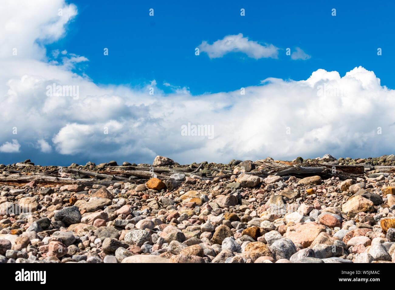 Bellissima costa al lato est della Svezia presso il golfo di Botnia sulla penisola di Hornslandet Foto Stock