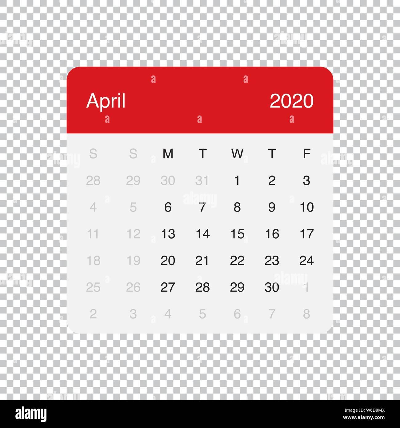 Calendario Mese Aprile 2020.Simple 2020 Year Calendar Week Immagini Simple 2020 Year