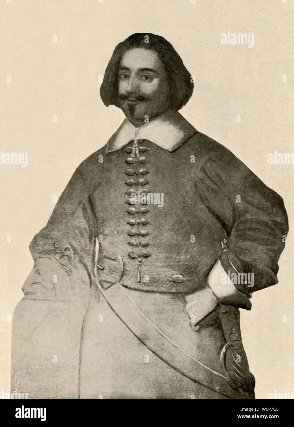 ritratto di un uomo sconosciuto in un rosso cappotto Carl