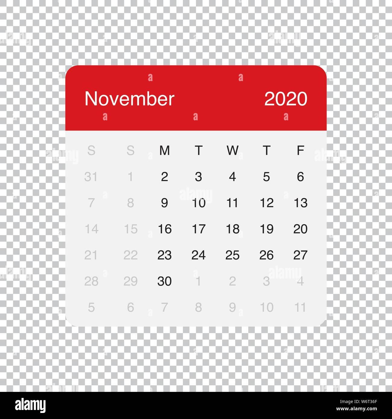 Novembre 2020 Calendario.Simple 2020 Year Calendar Week Immagini Simple 2020 Year