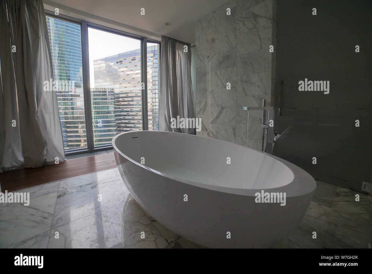 Bagni Di Lusso Moderni il lusso moderno bagno con vasca interni - una vista su un