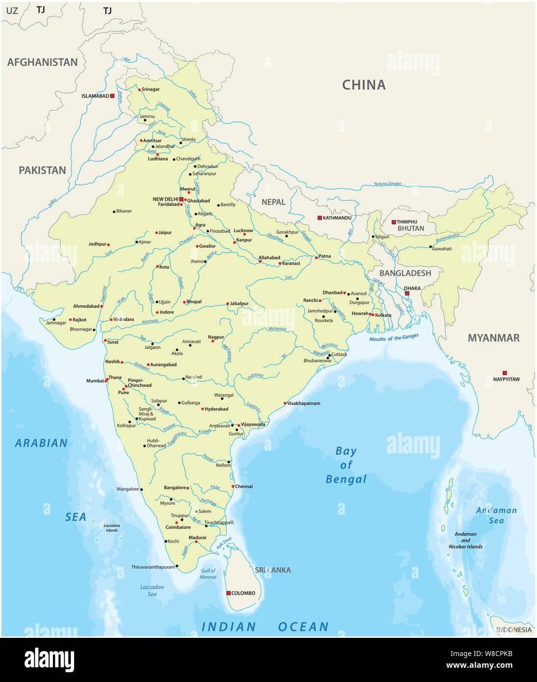 L India Cartina