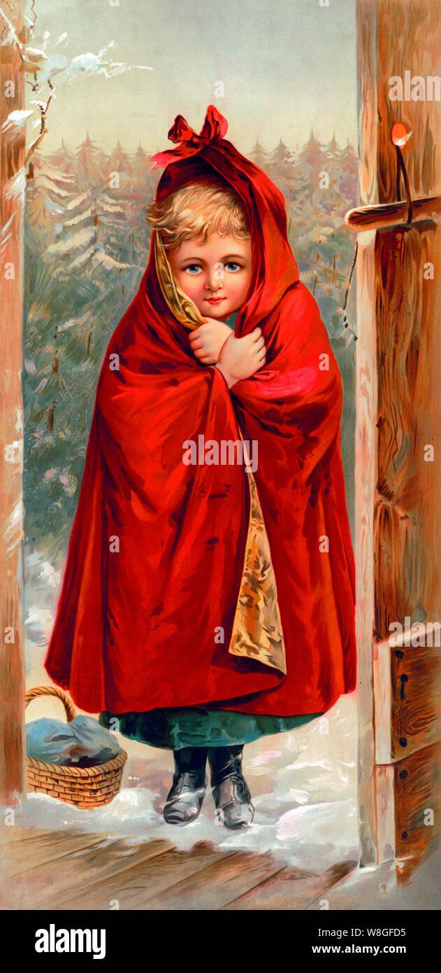 Bambino età 8 9 10 Little Red Riding Hood Ragazza delle fiabe Libro Costume