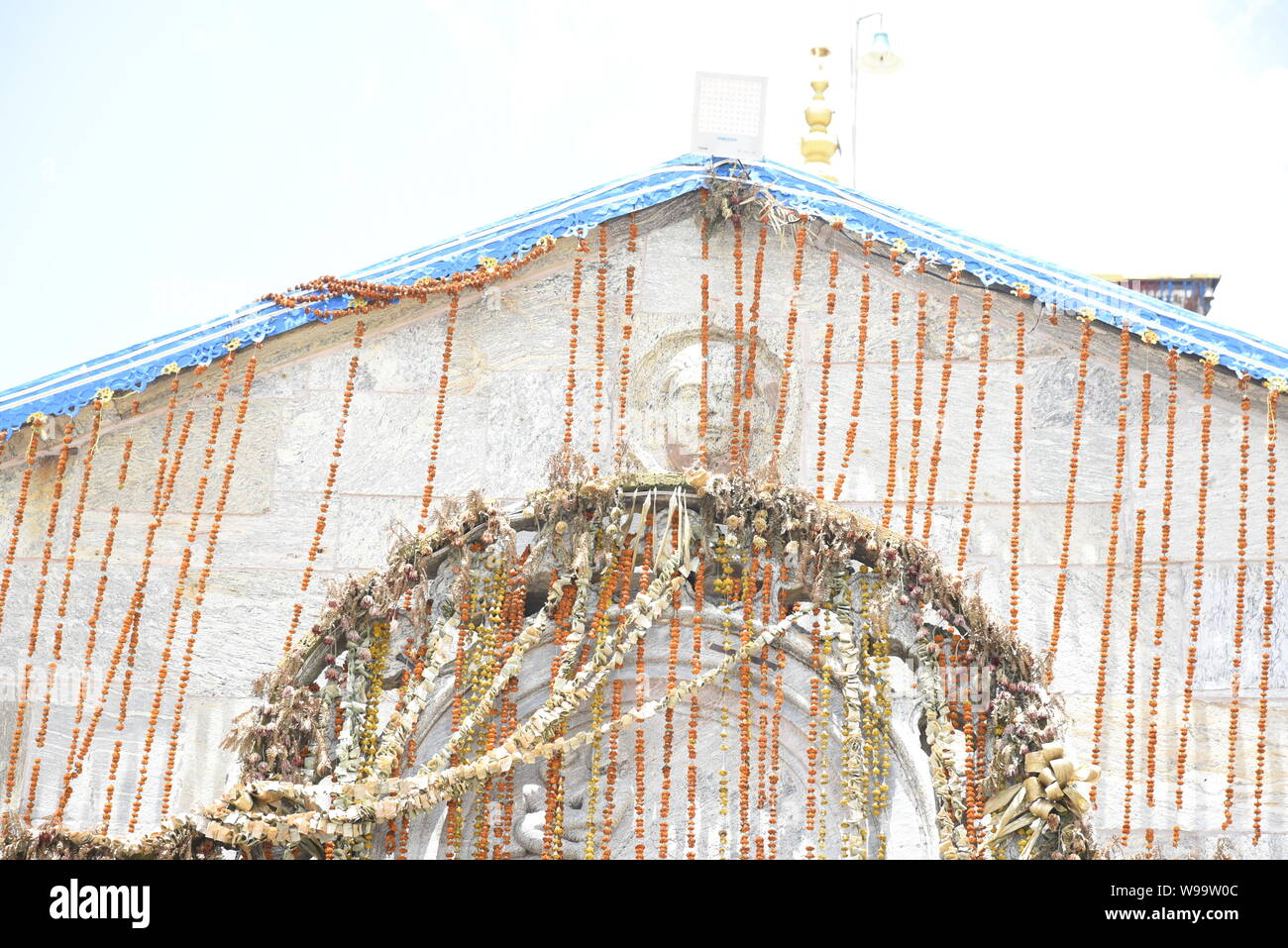 Santo tempio indù del Signore Shri Kedarnath Shankar Bholenath tempio 2019 vista in Chamoli/Rudraprayag Distretto , Uttrakhand , India , Asia Foto Stock