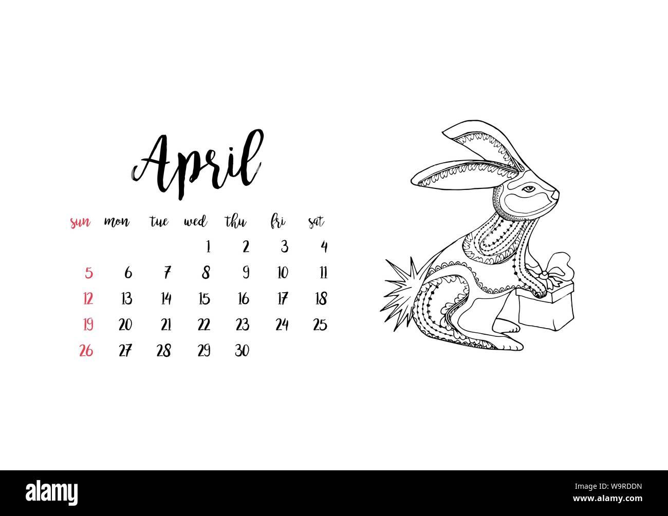 Calendario Mensile Aprile 2020.Calendar 2020 Immagini Calendar 2020 Fotos Stock Alamy