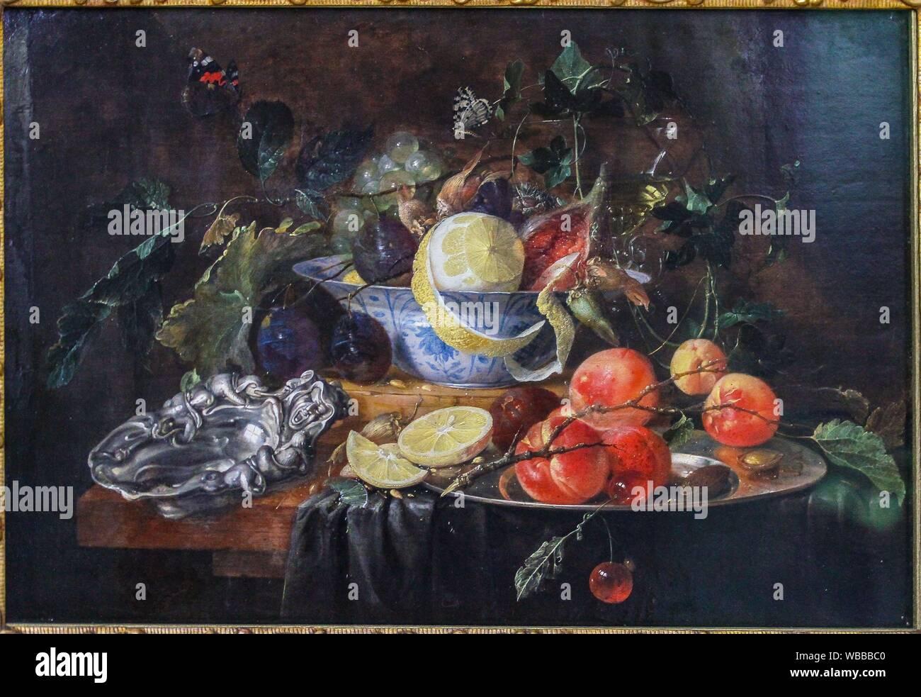 """'Still vita con frutta e Coppa d'argento"""", 1652, di Jan Davidsz de Heem (1606-1684) Foto Stock"""
