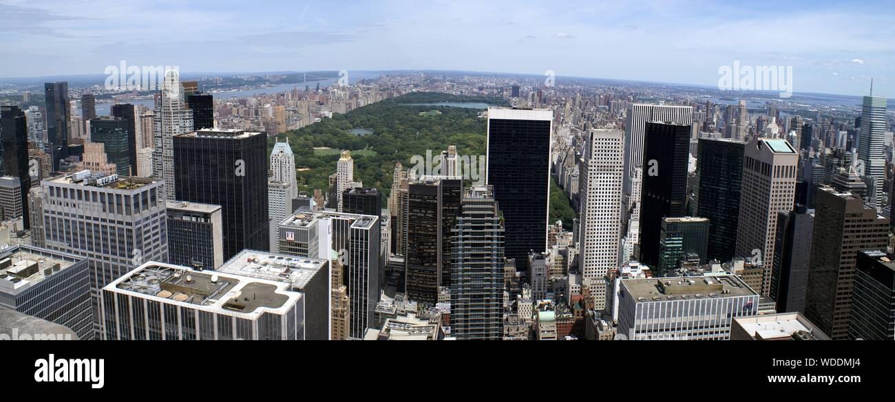 Vista aerea del paesaggio urbano Foto Stock