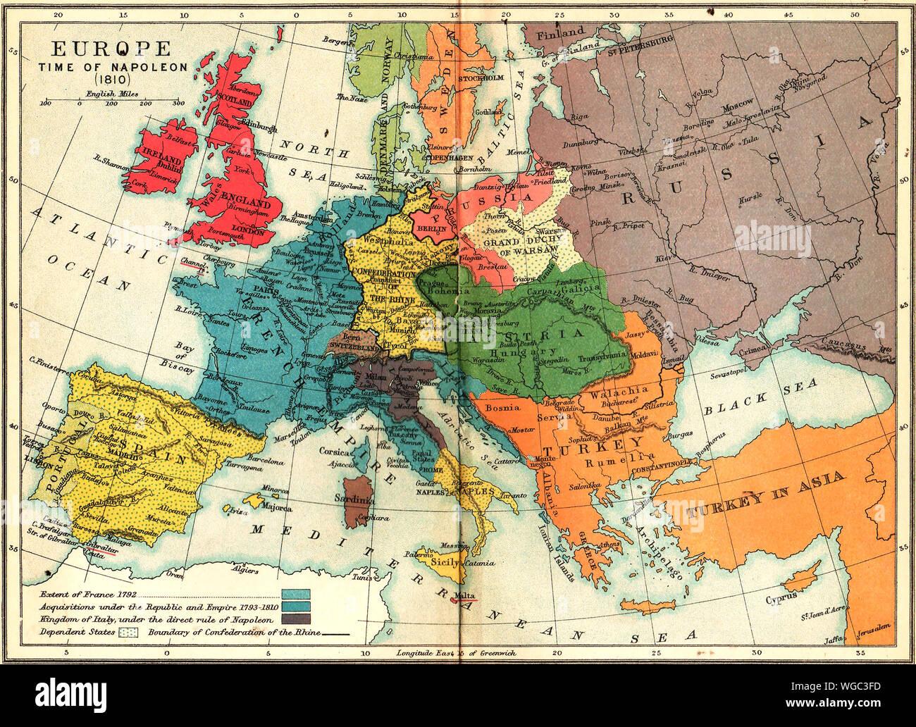 Cartina Italia 1810.Russia Prussia Map Immagini E Fotos Stock Alamy