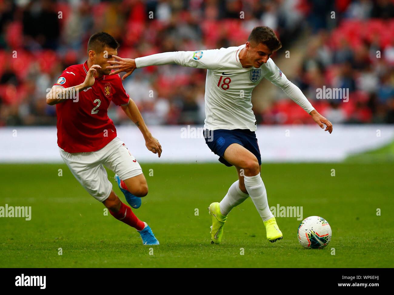 Londra, Regno Unito. 07Th Sep, 2019. Londra, Inghilterra. Settembre 07: Mason Mount di Inghilterra durante UEFA EURO 2020 il qualificatore tra Inghilterra e la Bulgaria allo stadio di Wembley a Londra, in Inghilterra, il 07 settembre 2019 Credit: Azione Foto Sport/Alamy Live News Foto Stock