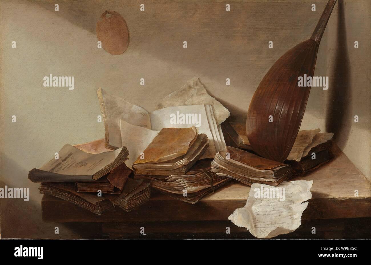 Natura morta con libri, Jan Davidsz de Heem, 1625 - 1630.jpg - WPB35C Foto Stock