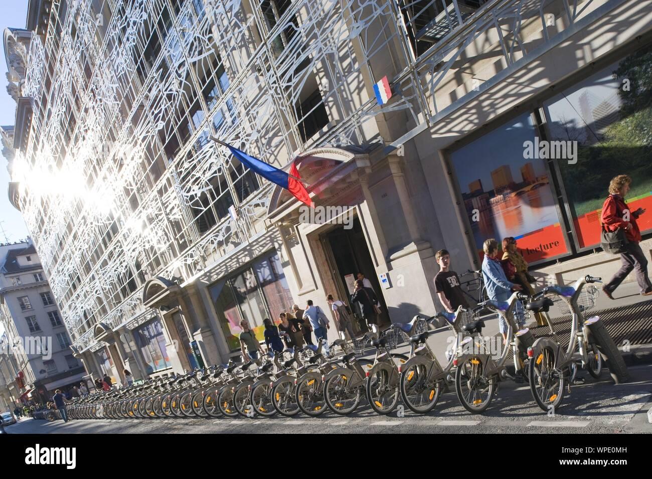 Parigi, Velib Foto Stock