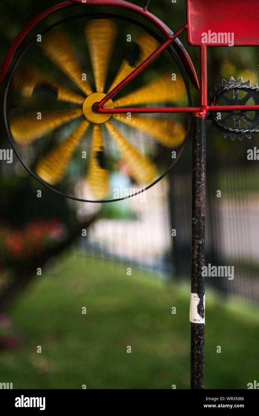 Close-up di filatura ruota Pin Foto Stock