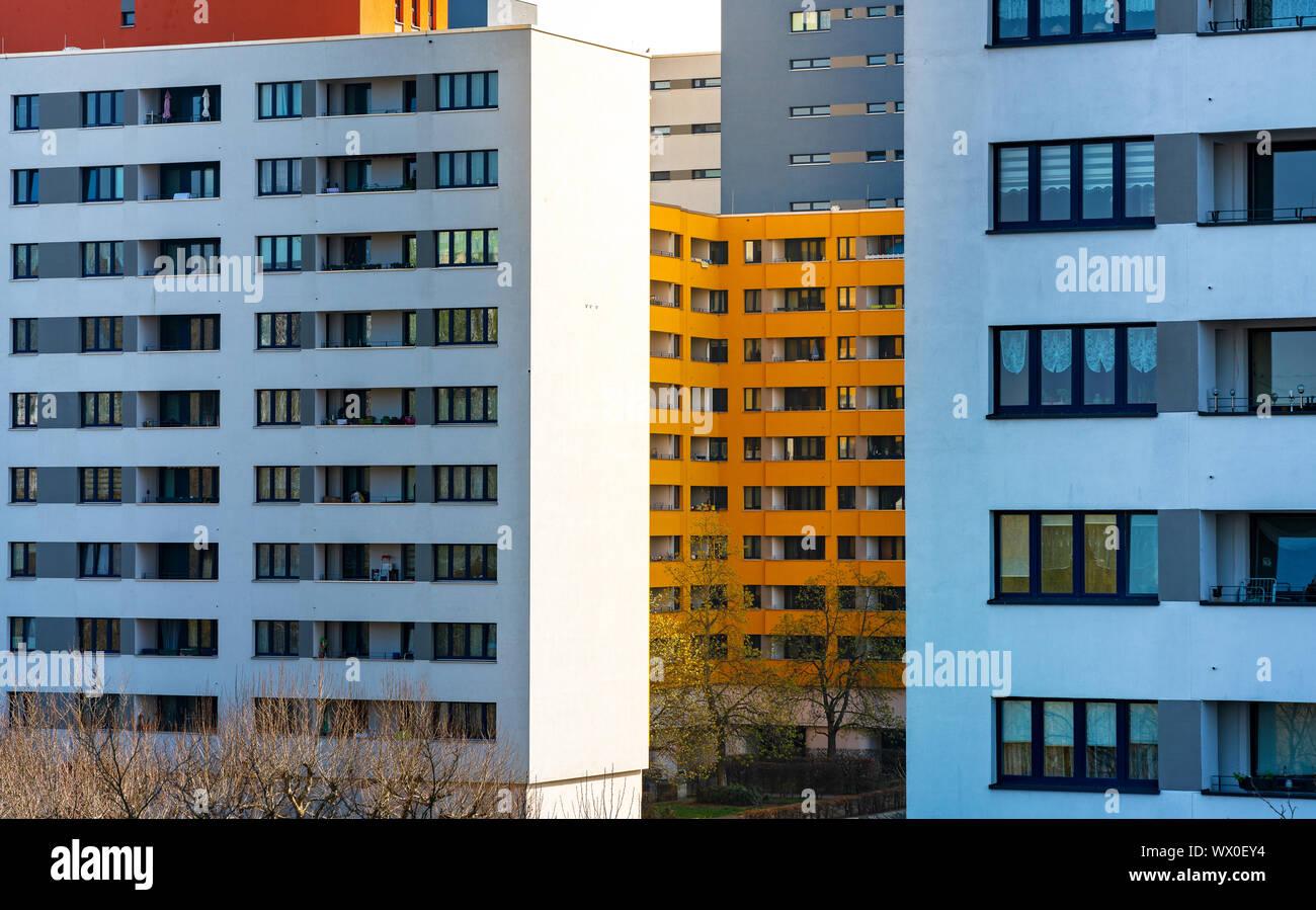 Alloggi sociali a Berlino Foto Stock