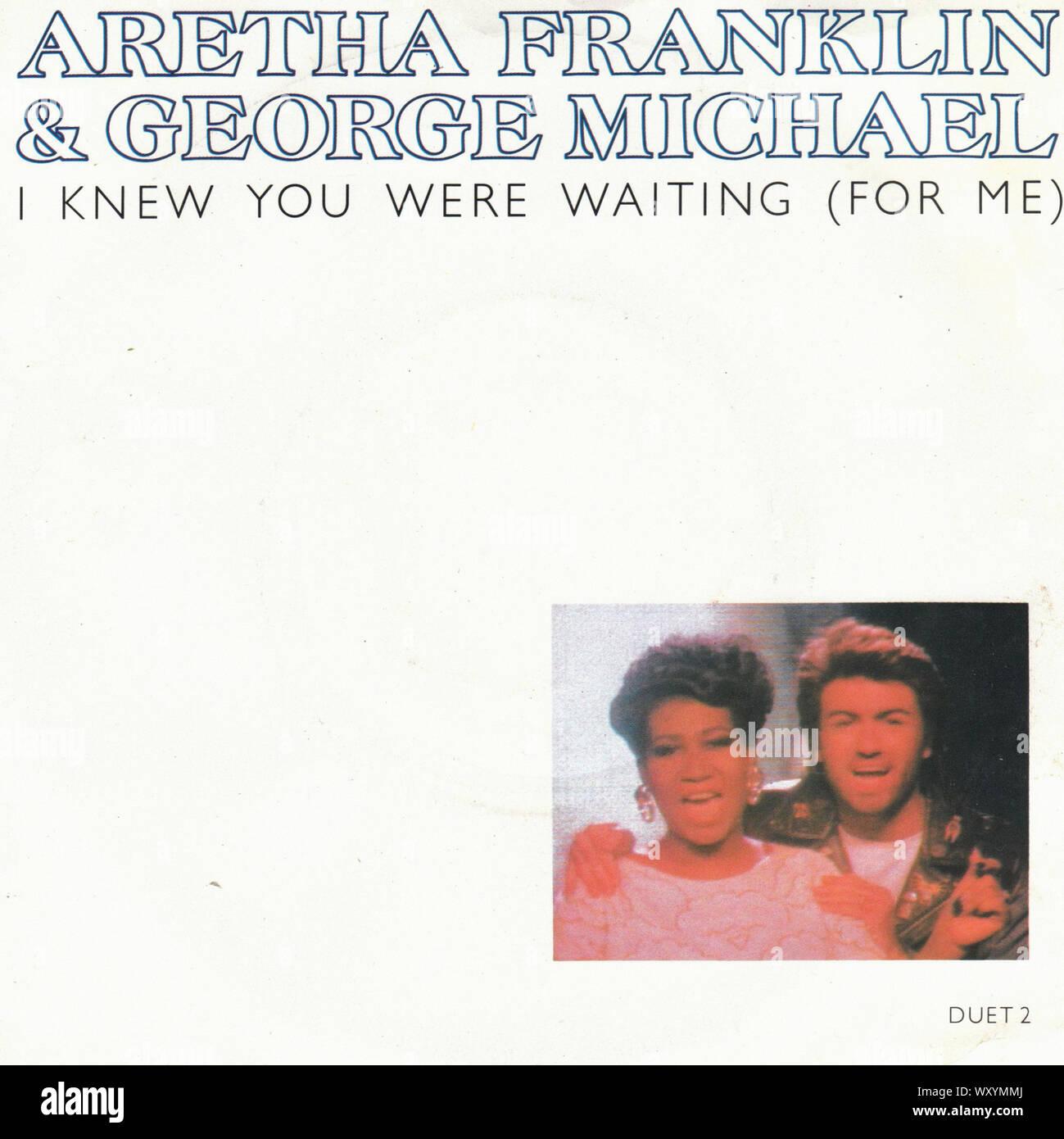 """Aretha Franklin & George Michael - sapevo che eravamo in attesa - Vintage 7"""" pollici coperchio record Foto Stock"""