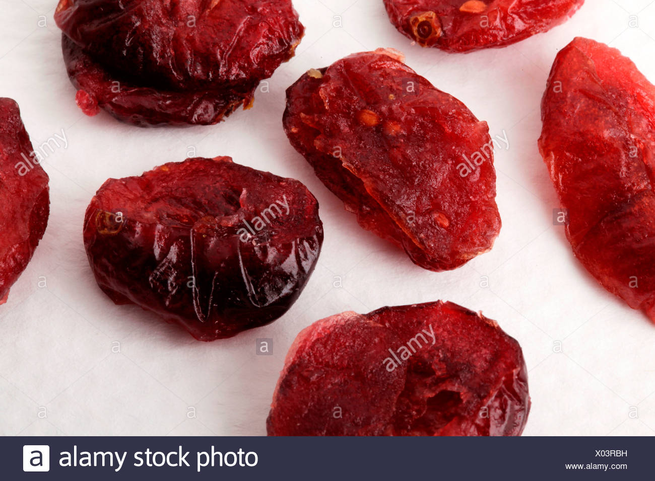Di mirtilli rossi secchi Immagini Stock