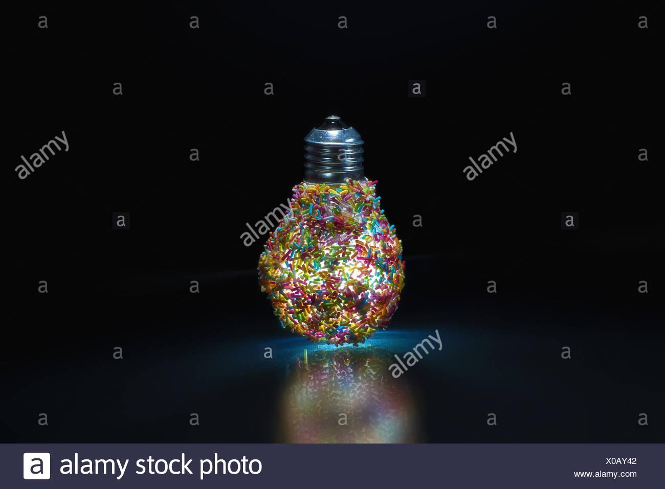 Luci decorative lampadina Immagini Stock