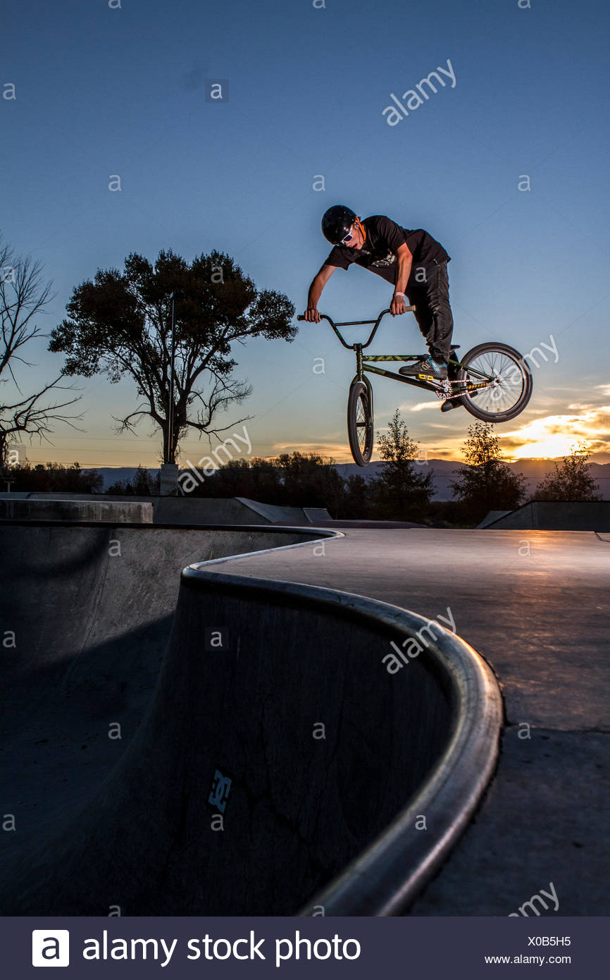 BMX bike Foto Stock