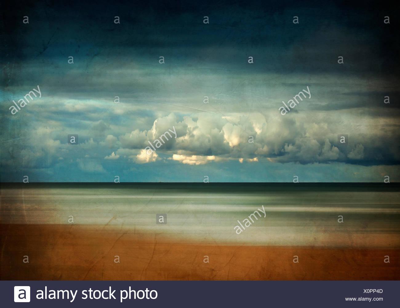 Francia, contis-Plage, Spiaggia di mattina Immagini Stock