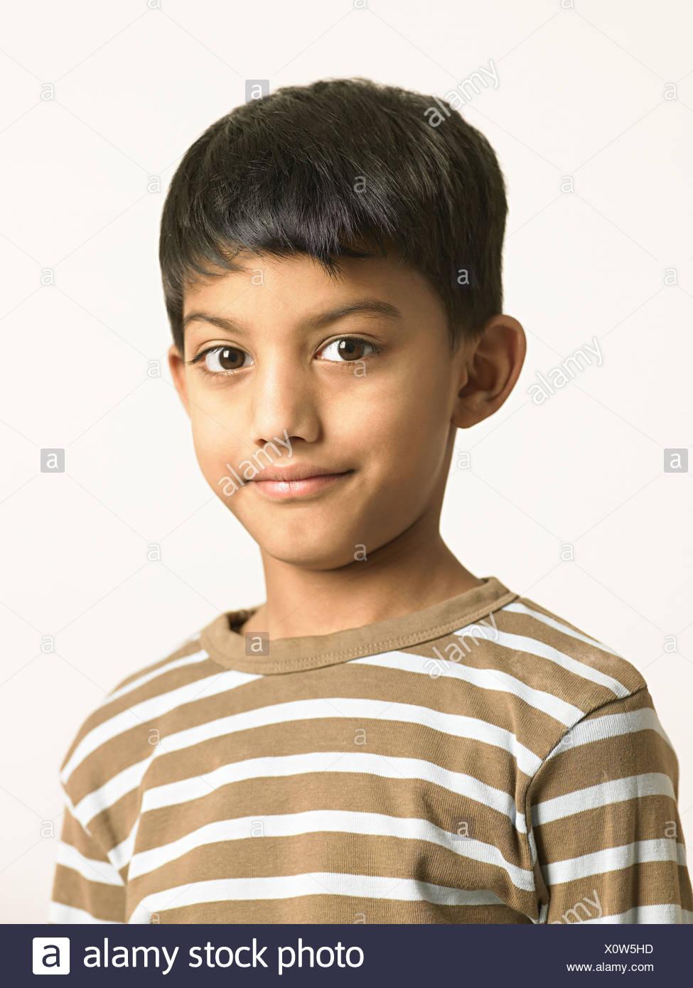 Ritratto di un ragazzo indiano Immagini Stock